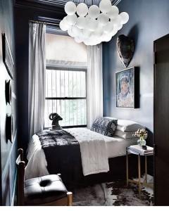 Love this dark bedroom interiorstories Source elledecorationse